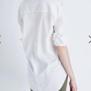 Madewell drapery oversize boyshirt pure white XXS
